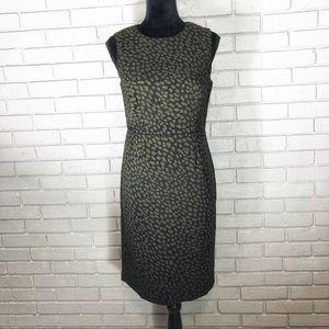Ann Taylor Animal Print Sheath Dress